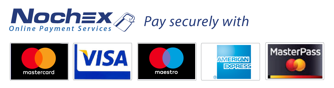 Use the brands of American Express, MasterCard, MasterPass, Visa, V.me and Nochex to endorse your website and convert visitors into paying customers