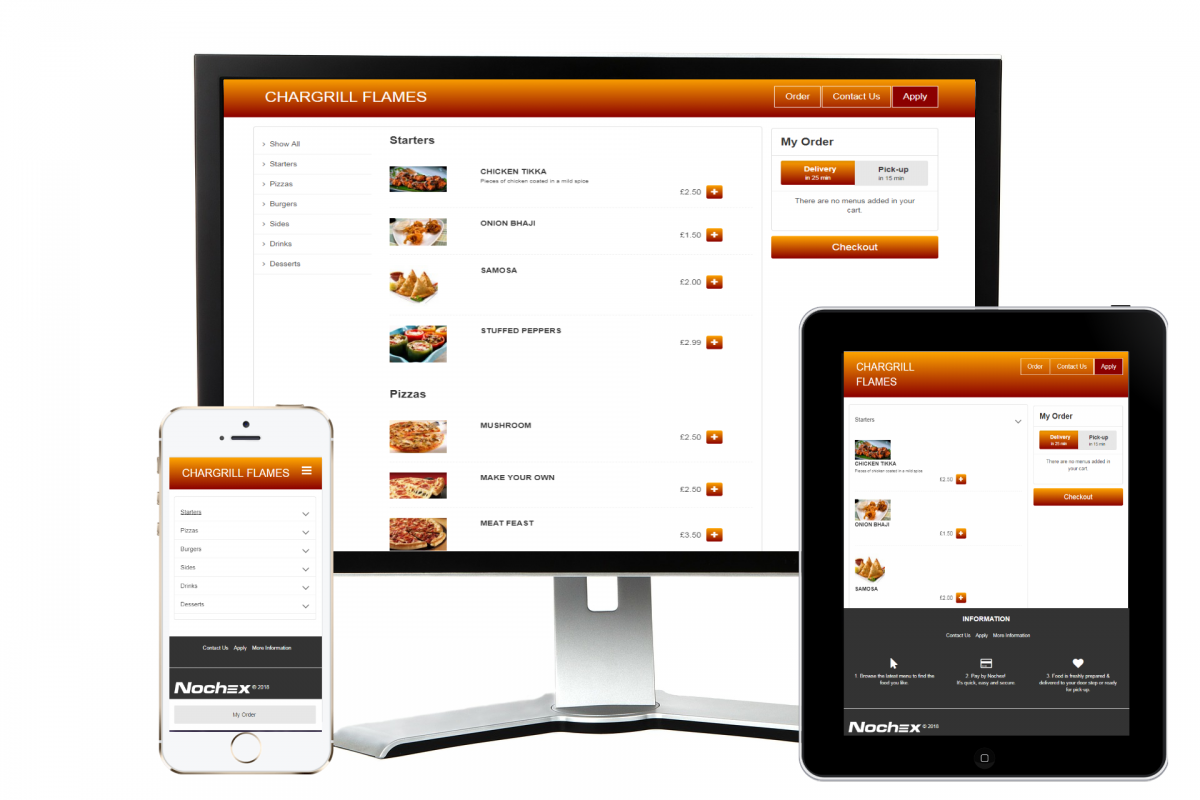roast house manchester takeaway and restaurant website design online ordering online payments from nochex