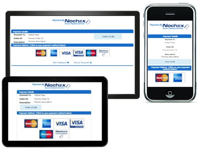 accept card payments from any device with nochex